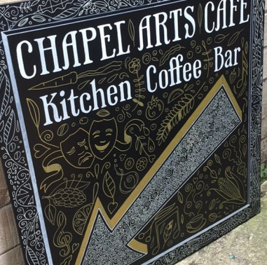 chapel arts cafe sign