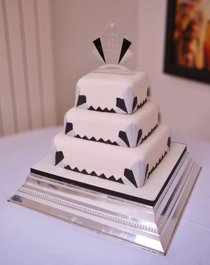 bristol bakehouse Beautiful cake for a beautiful bride! This Art Deco cake is entirely vegan