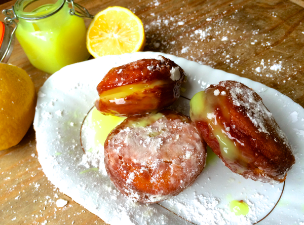 LEMON CURD DONUTS!