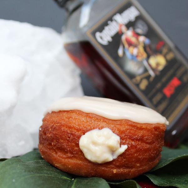 oozey boozey rum and Ubuntu cola cocktail #donut