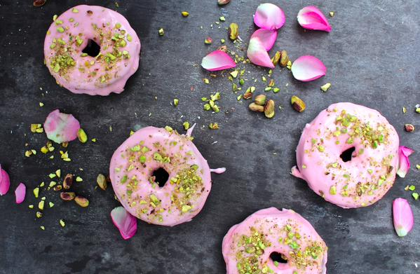 Rosewater + Pistachio #Donuts.