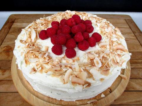spotless leopard Raspberry, lime and coconut cake