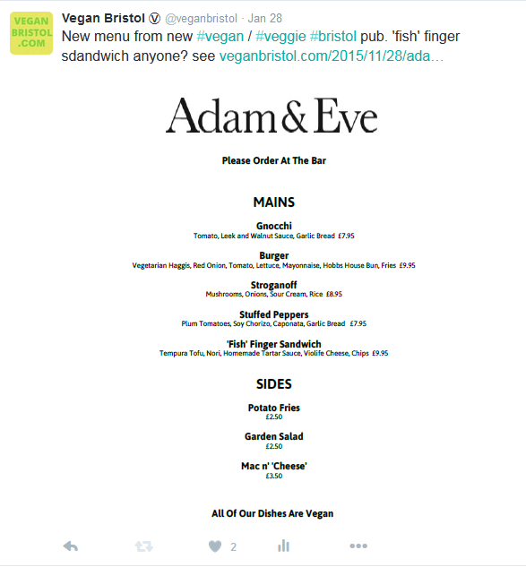 adam & eve menu rt 6
