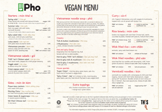 pho vegan menu veganuary