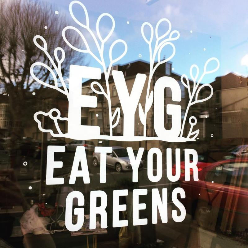 eat your greens window